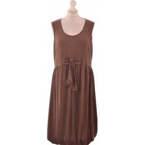 Midi Dress JACQUELINE RIU Brown