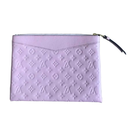 Leather Clutch LOUIS VUITTON Pink, fuchsia, light pink