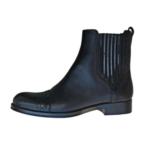 Flat Ankle Boots LOUIS VUITTON Black