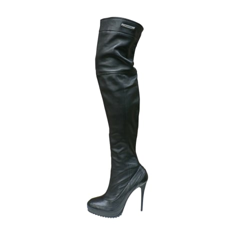 Thigh High Boots BURBERRY Black