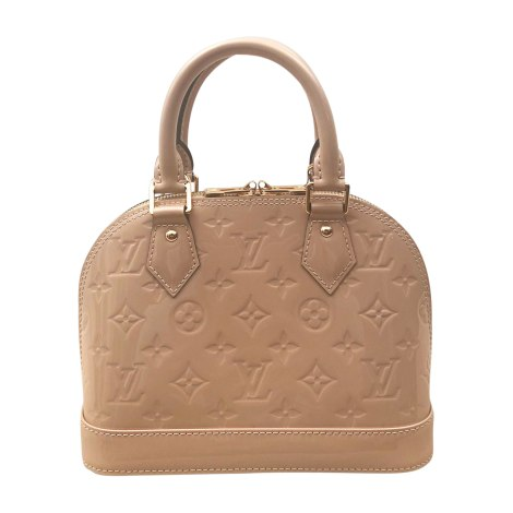 Leather Handbag LOUIS VUITTON Alma Beige, camel