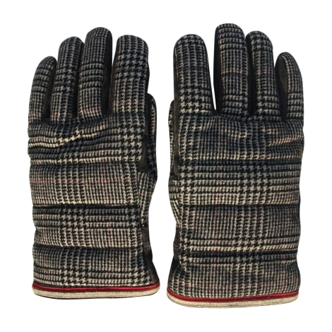 Gloves MONCLER Gray, charcoal