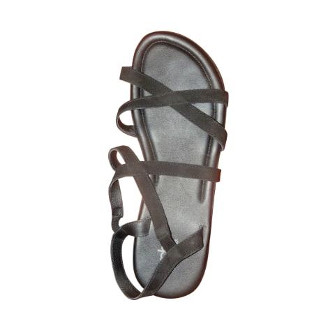 Sandales plates  ARCHE Noir