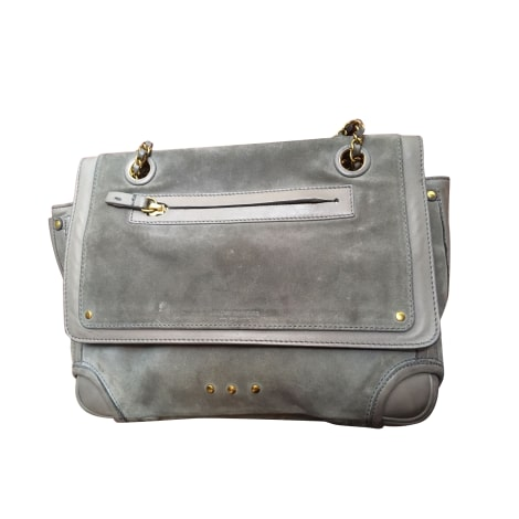 Leather Handbag JEROME DREYFUSS Gray, charcoal