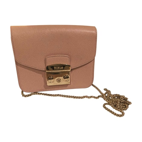 Leather Shoulder Bag FURLA Pink, fuchsia, light pink