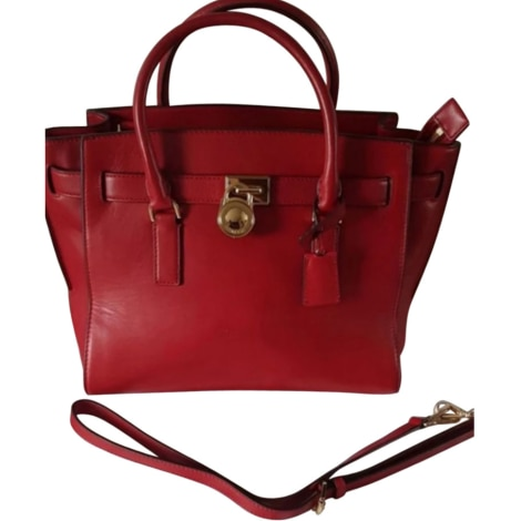 Leather Handbag MICHAEL KORS Red, burgundy