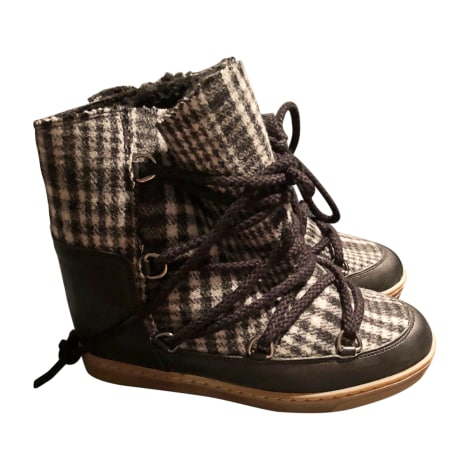 Wedge Ankle Boots ISABEL MARANT Gray, charcoal