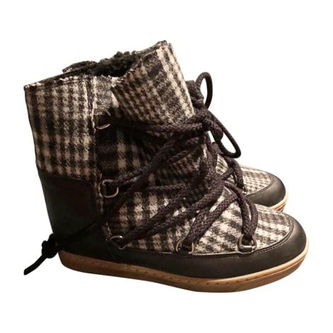 Bottines & low boots à compensés ISABEL MARANT Gris, anthracite