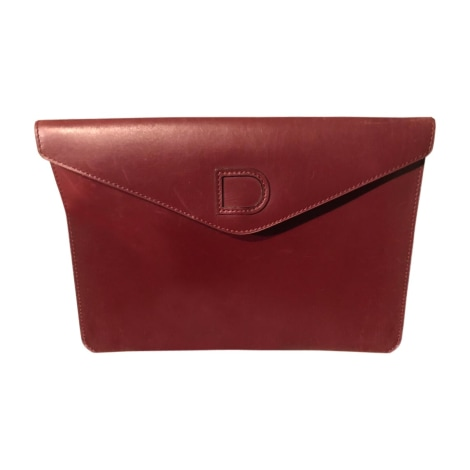 Clutch DELVAUX Red, burgundy