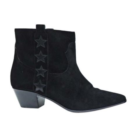 Wedge Ankle Boots SAINT LAURENT Black