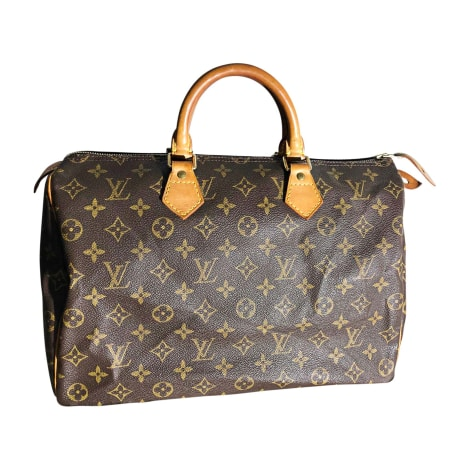 Ledertasche groß LOUIS VUITTON Speedy Braun