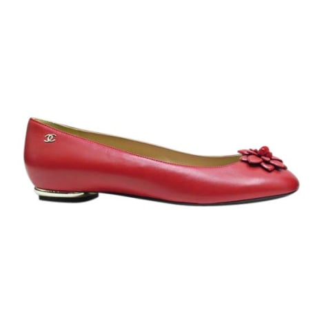 Dance Shoes CHANEL Red, burgundy