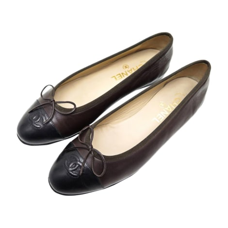 Ballet Flats CHANEL Brown
