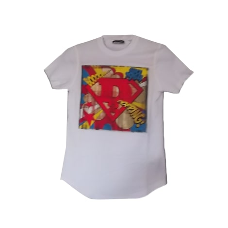T-shirt DSQUARED2 White, off-white, ecru