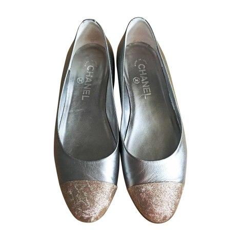 Ballet Flats CHANEL Silver