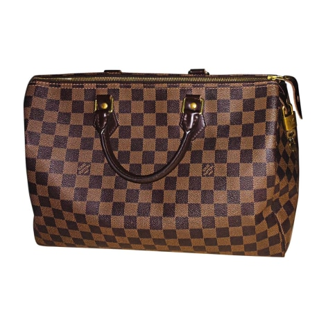 Non-Leather Handbag LOUIS VUITTON Speedy Brown