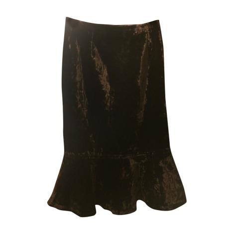 Midi Skirt YVES SAINT LAURENT Brown