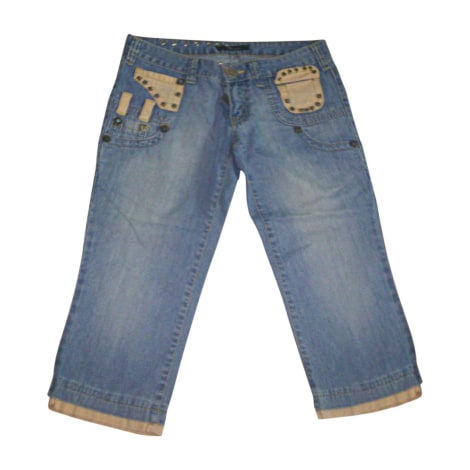 Jeans large, boyfriend DSQUARED Bleu, bleu marine, bleu turquoise