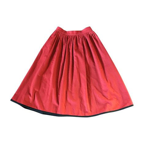Midi Skirt YVES SAINT LAURENT Red, burgundy