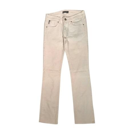 Jeans droit KARL LAGERFELD Blanc, blanc cassé, écru
