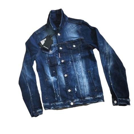Veste en jean DSQUARED2 Bleu, bleu marine, bleu turquoise