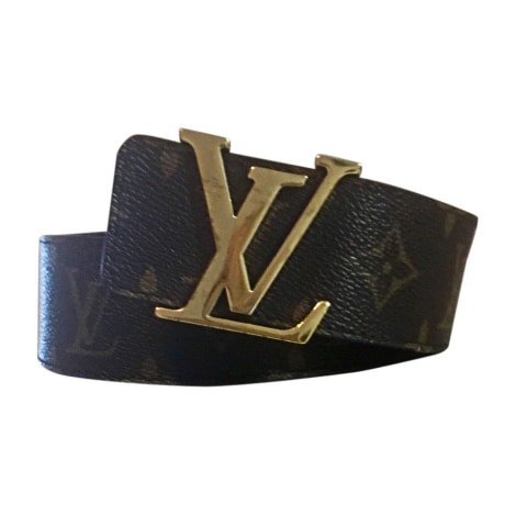 Ceinture large LOUIS VUITTON Marron