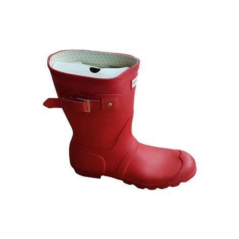 Bottes de pluie HUNTER Rouge, bordeaux