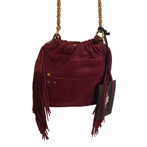 Leather Clutch JEROME DREYFUSS Red, burgundy