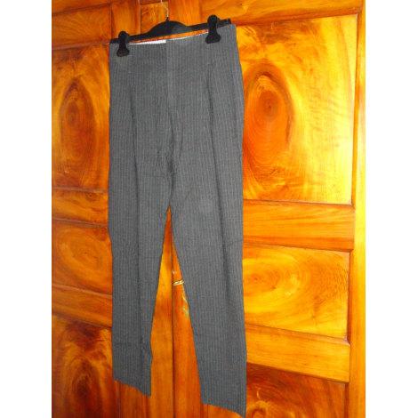 Pantalon carotte LEON & HARPER Gris, anthracite