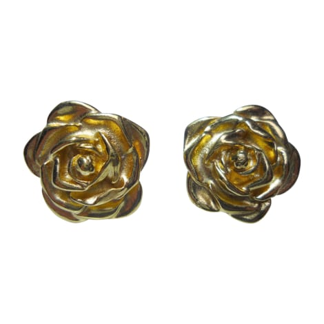 Earrings YVES SAINT LAURENT Downtown Golden, bronze, copper