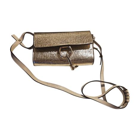 Leather Shoulder Bag CHLOÉ Golden, bronze, copper
