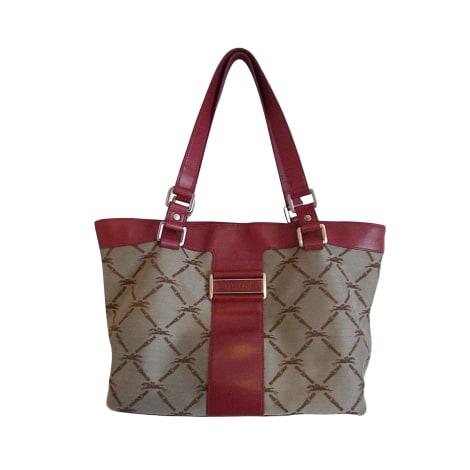 Non-Leather Oversize Bag LONGCHAMP Red, burgundy