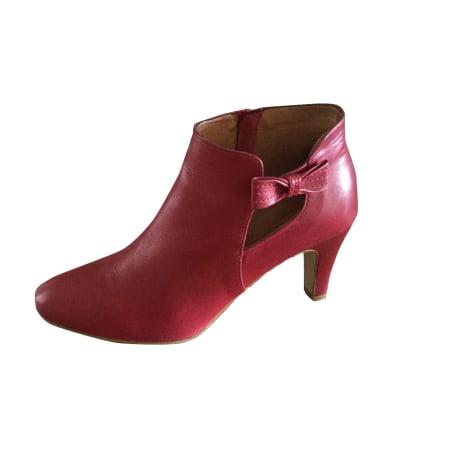 Bottines & low boots à talons PETITE MENDIGOTE Rouge, bordeaux