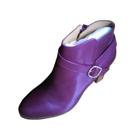 Bottines & low boots à talons BOBBIES Rouge, bordeaux