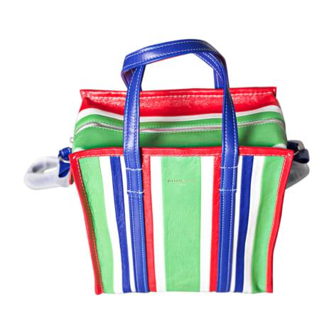 Leather Shoulder Bag BALENCIAGA Bazar Green