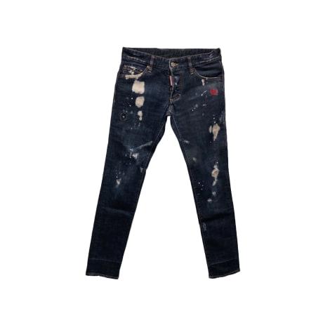Jeans dritto DSQUARED2 Blu, blu navy, turchese