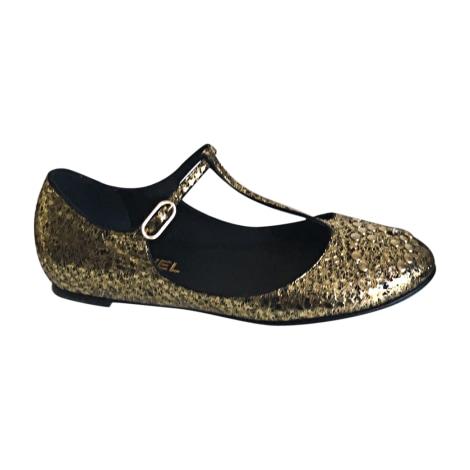 Ballet Flats CHANEL Golden, bronze, copper