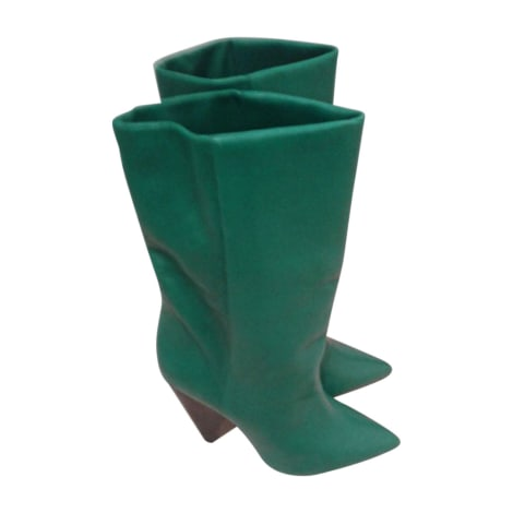 Bottines & low boots à talons ISABEL MARANT Vert