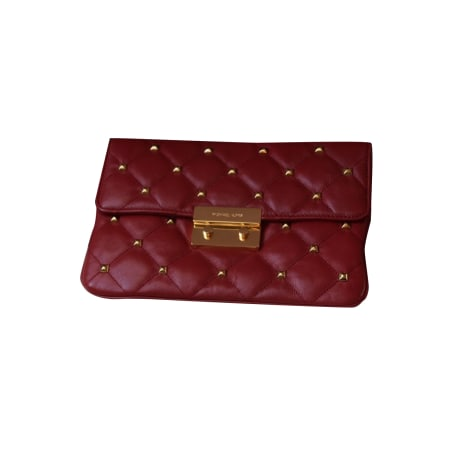 Leather Clutch MICHAEL KORS Red, burgundy