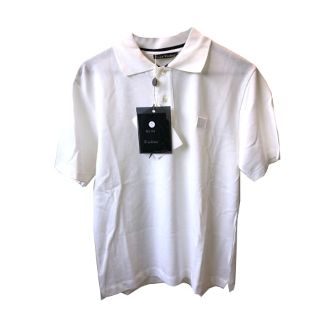 Polo ACNE White, off-white, ecru