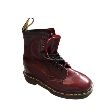 Bottines & low boots motards DR. MARTENS Rouge, bordeaux