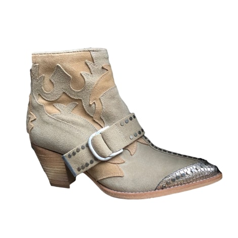 Santiags, bottines, low boots cowboy ZADIG & VOLTAIRE Beige, camel