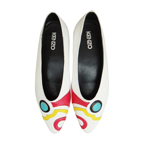 Ballet Flats KENZO White, off-white, ecru