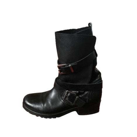 Bottines & low boots motards MAJE Noir