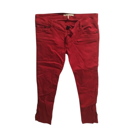 Jeans slim MAJE Rouge, bordeaux