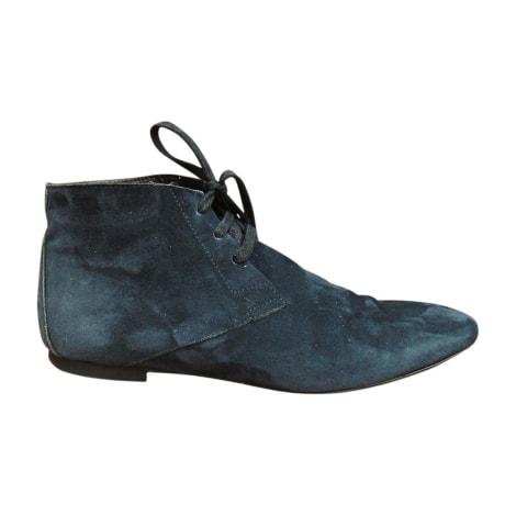 Bottines & low boots plates BURBERRY Bleu, bleu marine, bleu turquoise