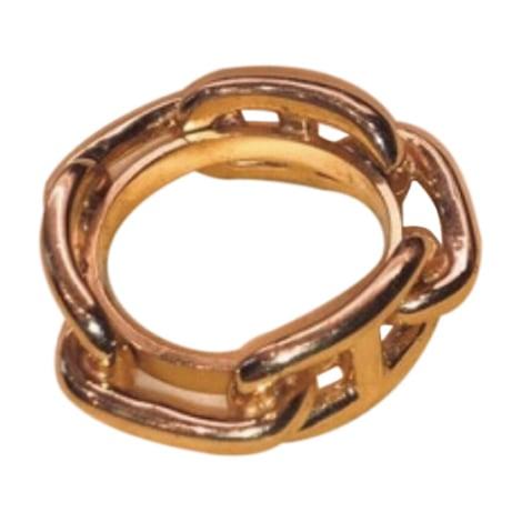 Brooch HERMÈS Golden, bronze, copper