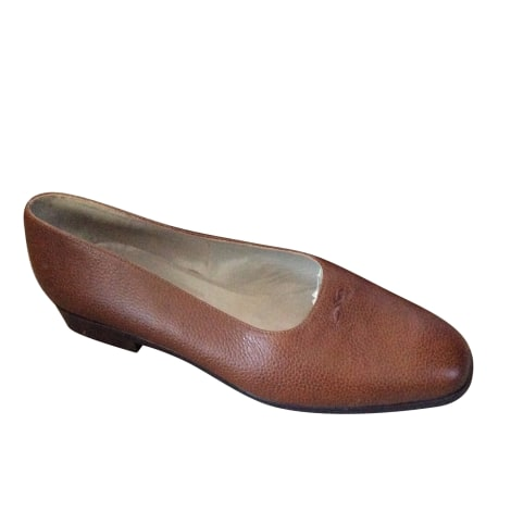 Ballet Flats LONGCHAMP Brown
