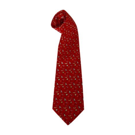 Tie SALVATORE FERRAGAMO Red, burgundy