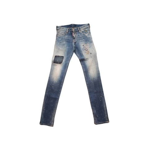 Jeans slim DSQUARED2 Blu, blu navy, turchese